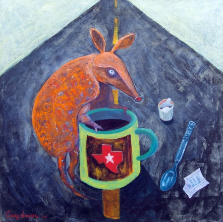 Armadillo Morning Coffee by artist Craig Irvin